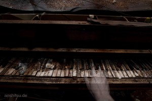 Old Piano in an abandoned theater