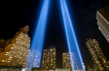 9-11 Tribute In Light 2012 in Downtown Manhattan / NY